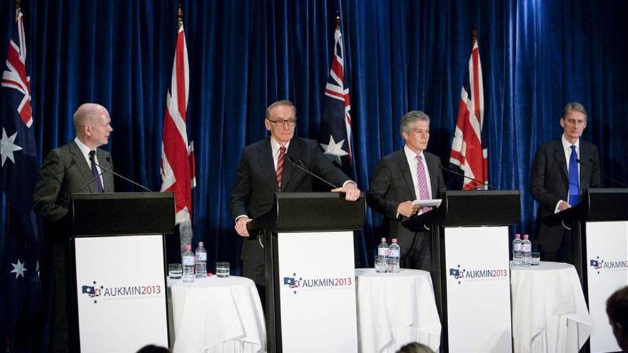 Australia y R. Unido instan a EEUU a liderar proceso de paz en Oriente Medio
