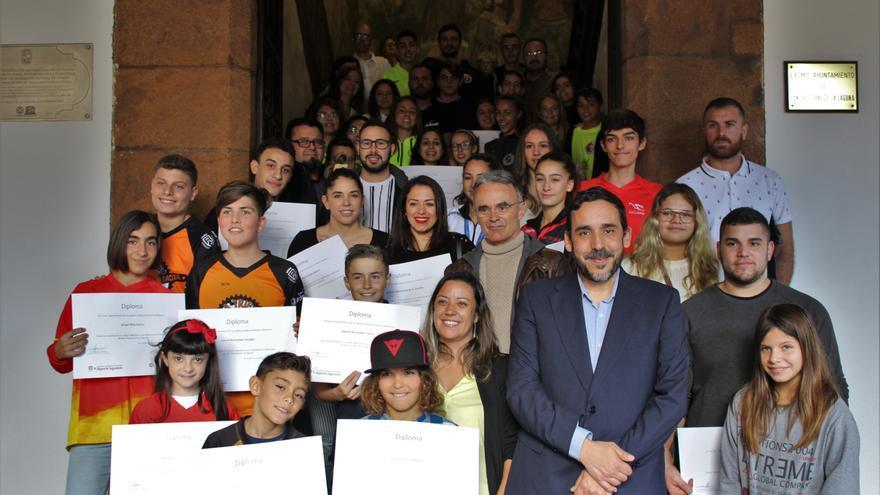 Imagen de la recepción del pasado lunes en el Ayuntamiento de La Laguna.