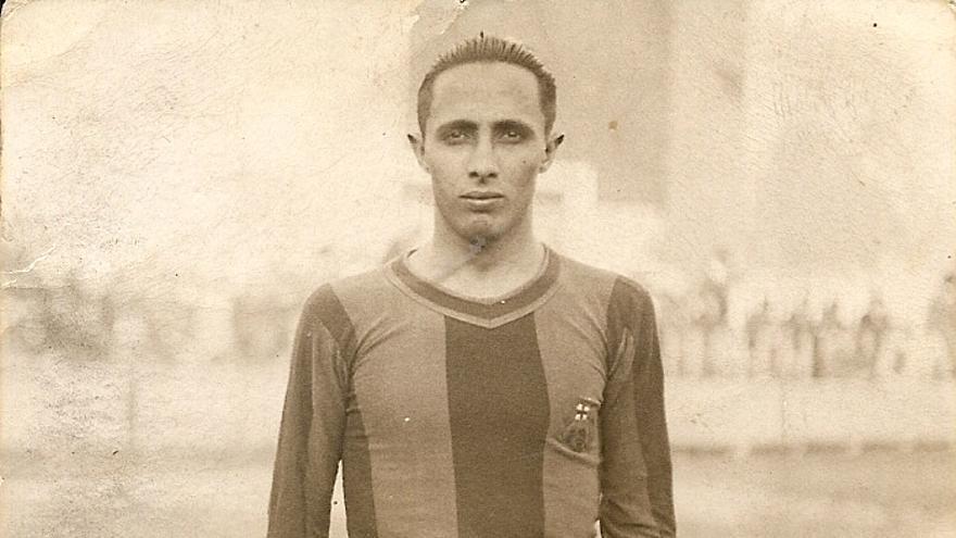 Bernadino Semán, tinerfeño que militó en el FC Barcelona antes de la Guerra Civil.