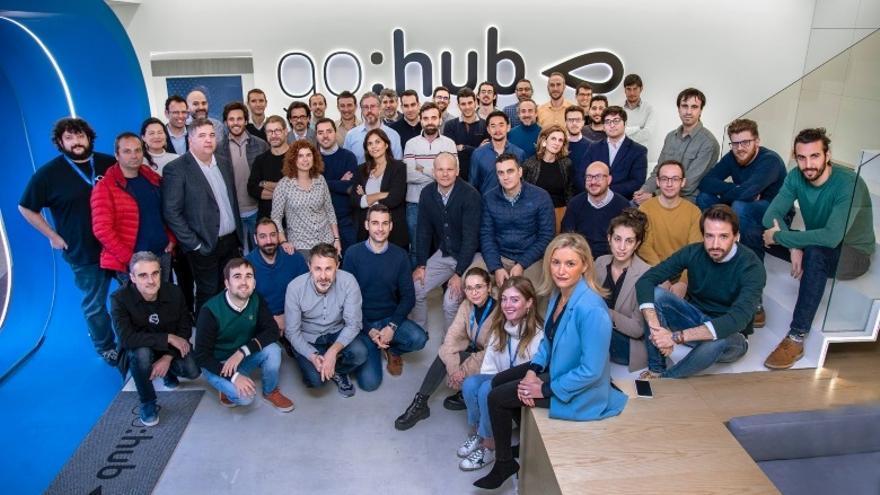 Foto de familia de las startups seleccionadas