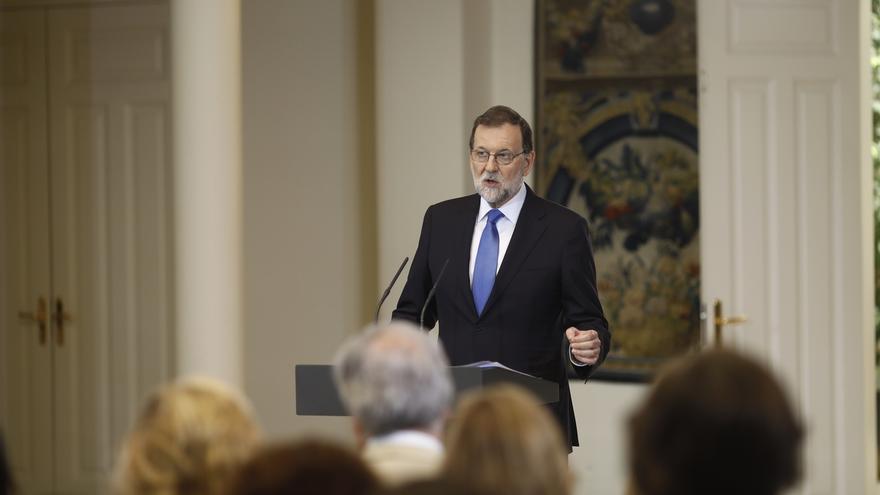 """Rajoy dice que tiene """"ganas e ilusión"""", pero aún no se ha planteado si será otra vez candidato del PP al Gobierno"""