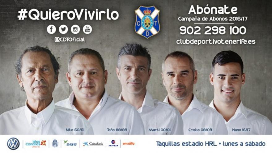 Campaña de abonados del Tenerife de la temporada 2016/2017