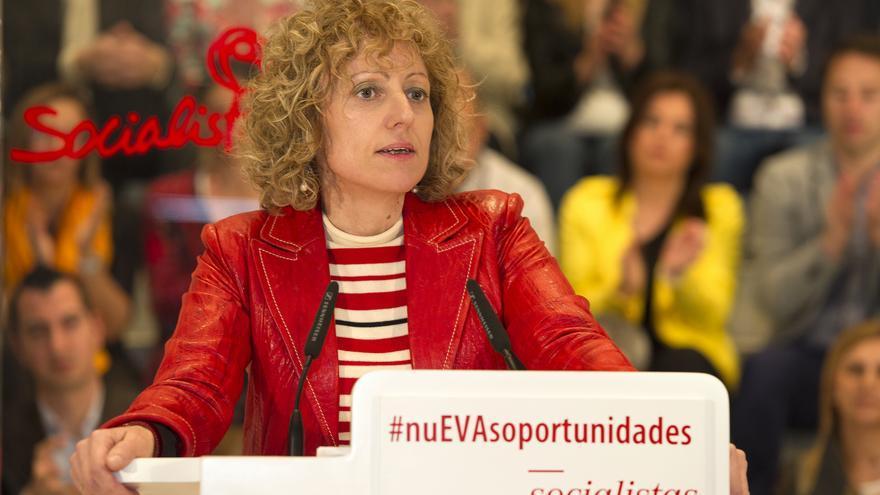 Eva Díaz Tezanos, secretaria general del PSC-PSOE y candidata a la Presidencia de Cantabria.