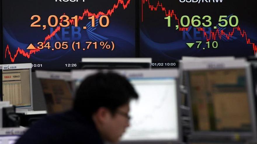 La Bolsa de Seúl abre con una caída del 0,19 % hasta los 2.160,32 puntos