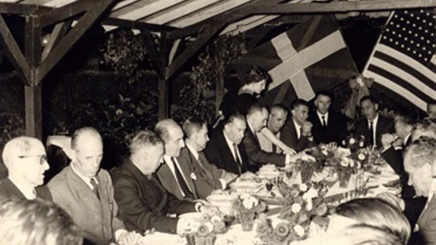 Un encuentro de las delegaciones vasca y americana. Foto: Fundación Sabino Arana