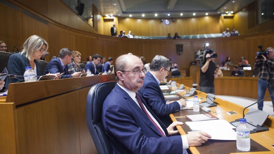El presidente de Aragón, Javier Lambán, en  una imagen de archivo