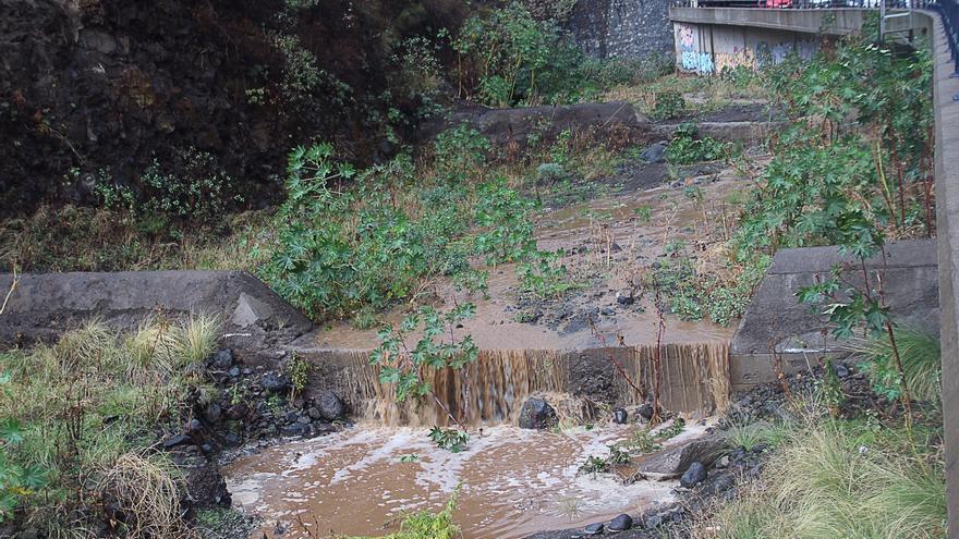 En la imagen, barranco de Las Nieves este martes. Foto: SIXTO SANTOS