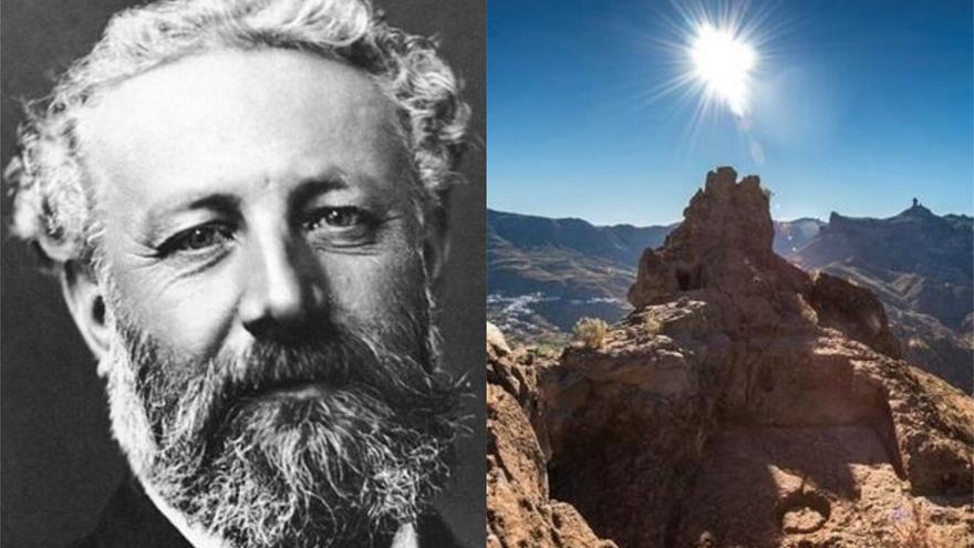 Julio Verne y el emplazamiento de la caldera de Tejeda, en Gran Canaria