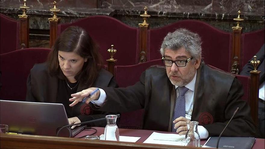 El abogado Jordi Pina en el juicio del procés