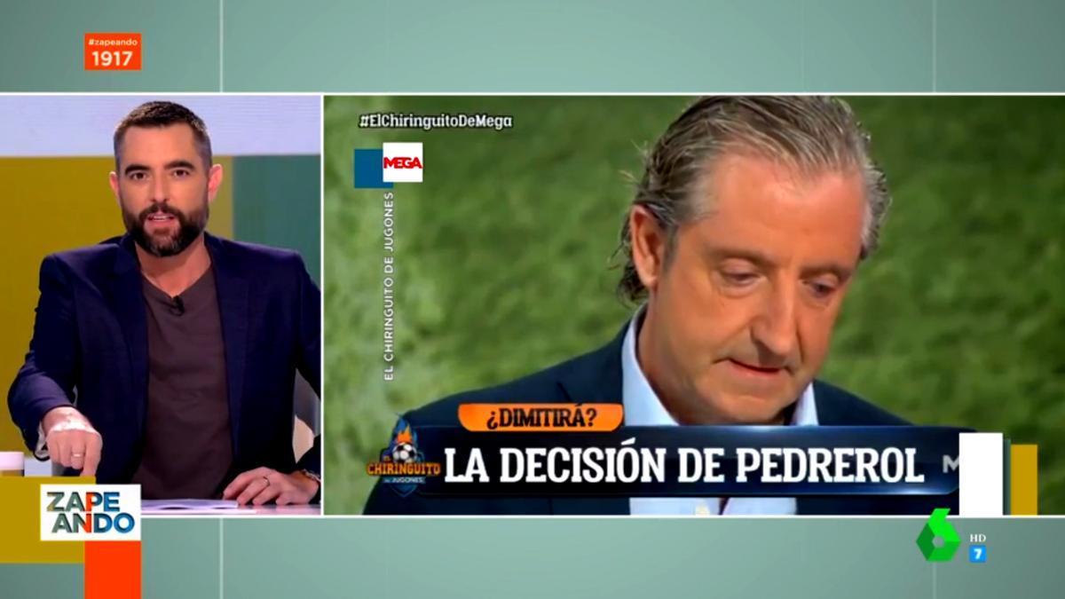 Dani Mateo ve en 'Zapeando' el famoso vídeo de Josep Pedrerol