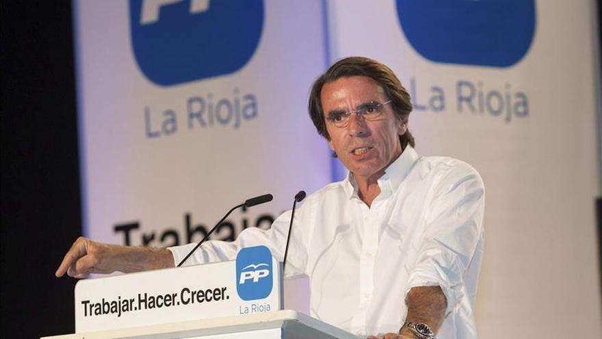 Aznar asegura que solo el PP puede ocupar la centralidad política de España