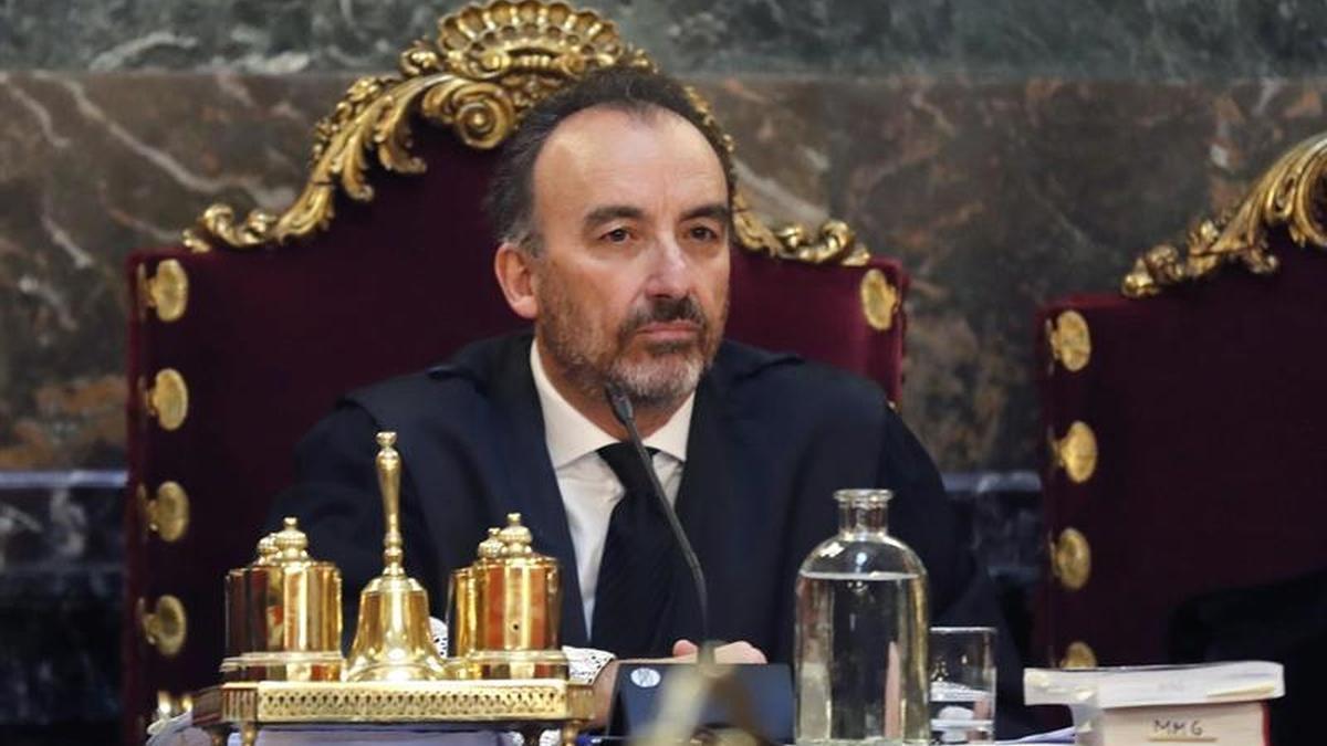 El magistrado Manuel Marchena durante el juicio del procés
