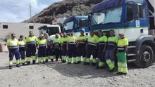 Personal del servicio de recogida de residuos sólidos de Mogán.