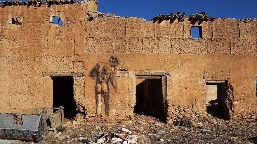 Mural de barro ubicado en el municipio de Montalvos.