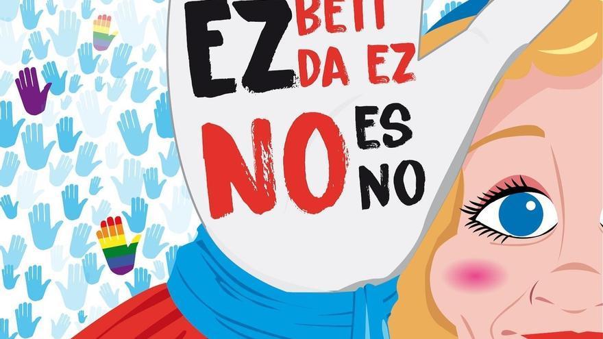 Marijaia estrena nueva imagen dentro de la campaña contra las agresiones sexistas diseñada para Aste Nagusia