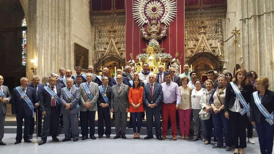 Gil Rosiña ha participado en los cultos y actos en honor a Nuestra Señora de Guadalupe en la ciudad hispalense