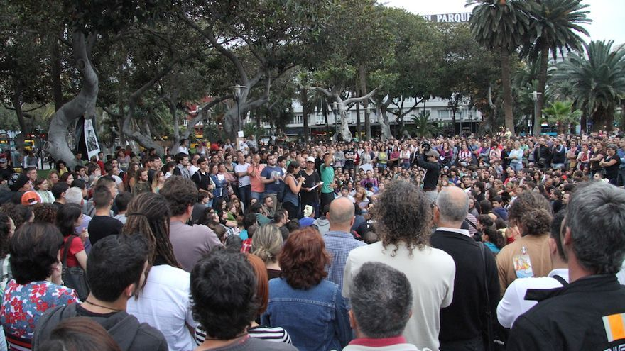 Archivo del 15M en San Telmo. (Orlando Arencibia).
