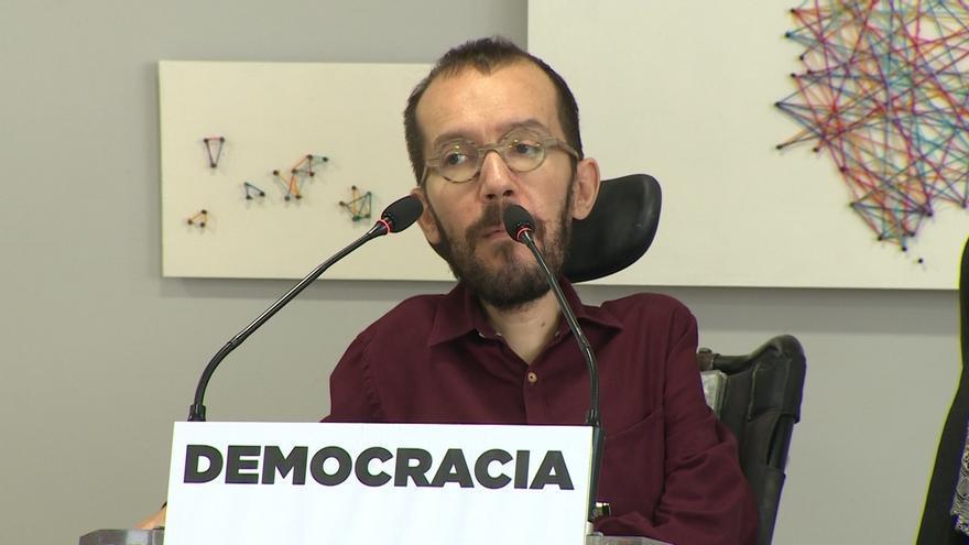 """Echenique cree que la tutela semanal de las cuentas del Ayuntamiento de Madrid """"sugiere"""" una """"intervención política"""""""