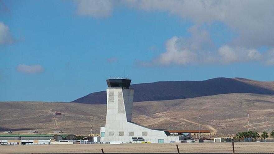 Torre de control en Fuerteventura.