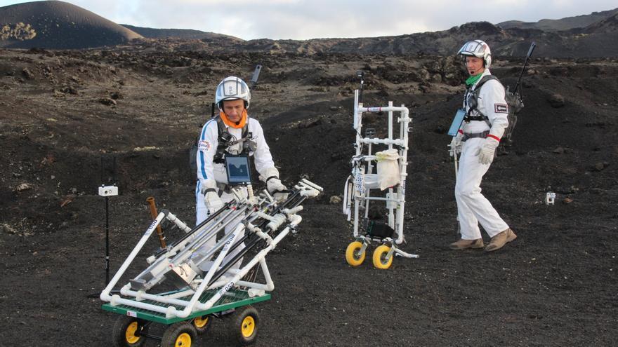 Astronautas en Lanzarote