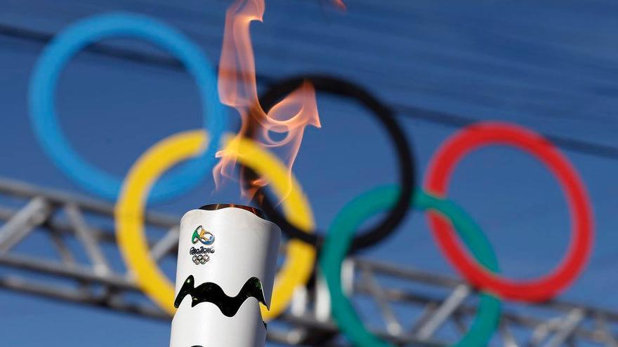 El pebetero olímpico, de camino a la ciudad de Río de Janeiro.