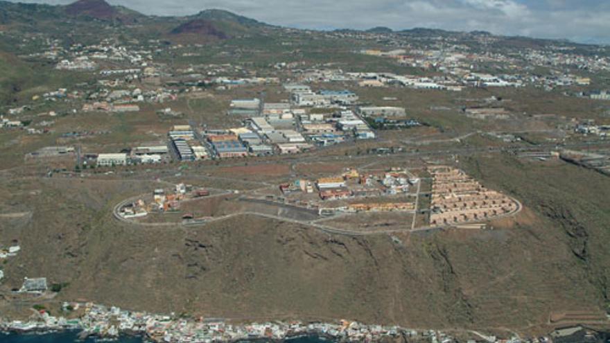 Vista aérea del polígono industrial La Campana, en El Rosario, Tenerife