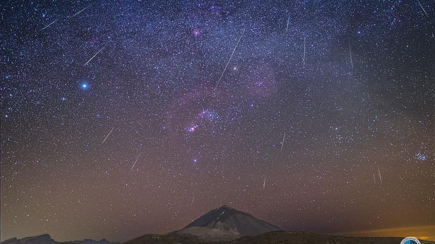 Lluvia de estrellas de las Gemínidas.