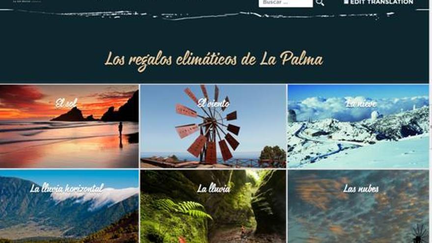 Imagen de la nueva web de Turismo La Palma.