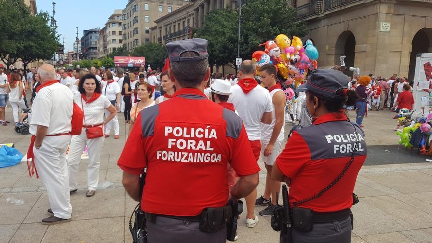 Policía Foral detiene a 40 personas y recoge 652 denuncias por ilícitos penales en los Sanfermines 2017