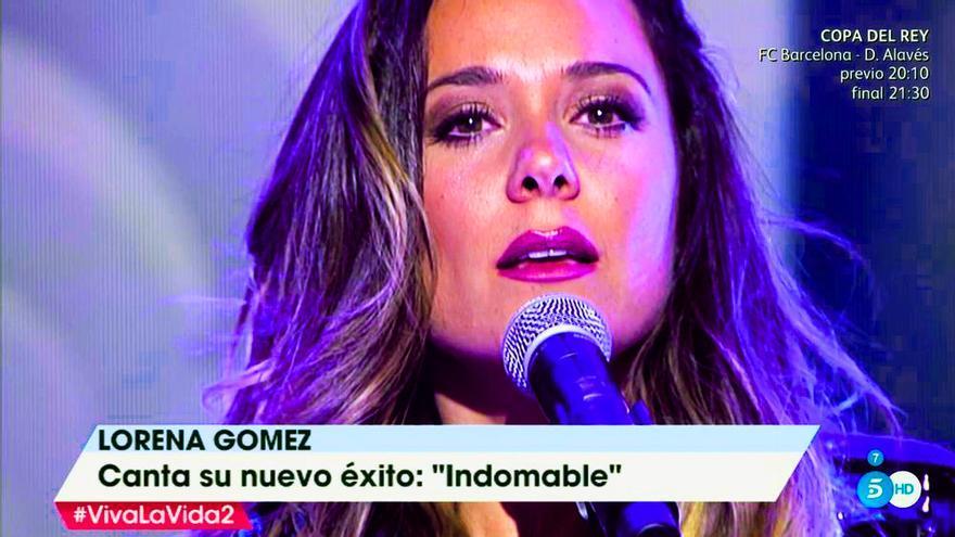 Lorena Gómez canta en 'Viva la vida'