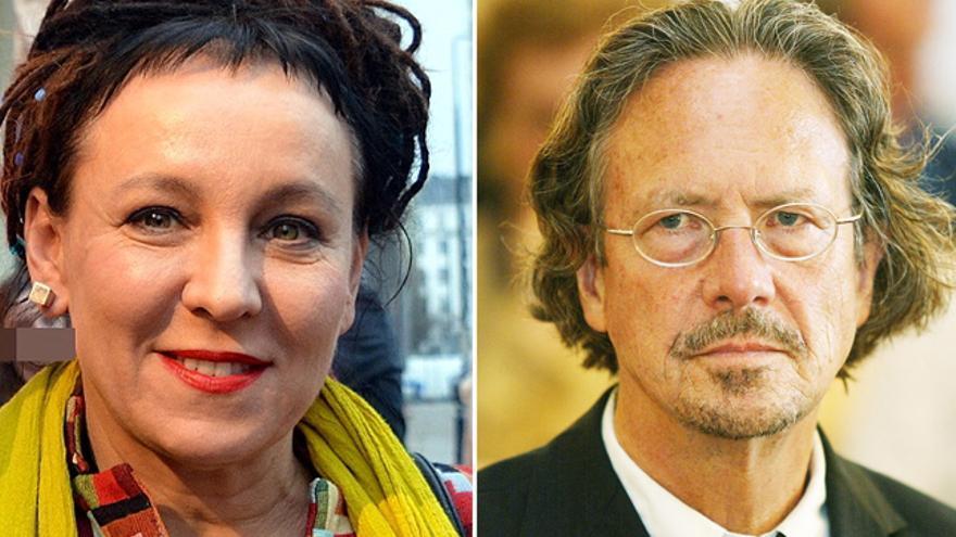 Olga Tokarczuk y Peter Handke, premios Nobel de Literatura 2018 y 2019, respectivamente