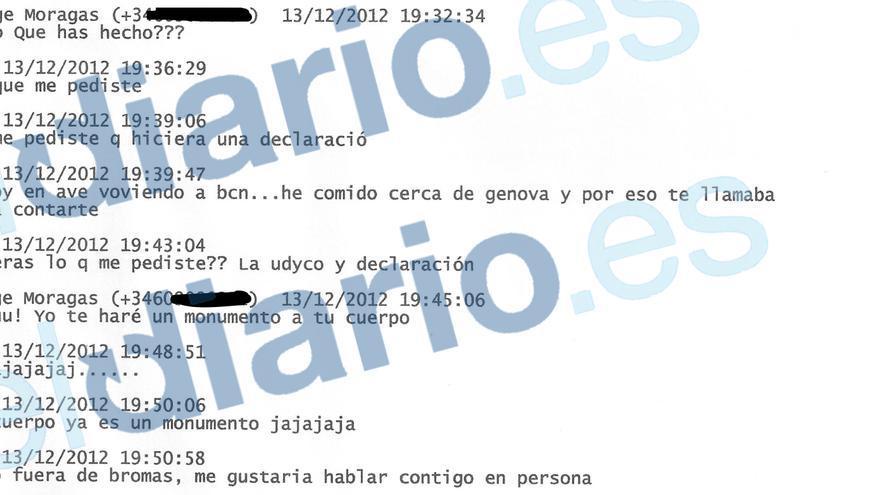 Los SMS de Moragas a la exnovia de Pujol Ferrusola
