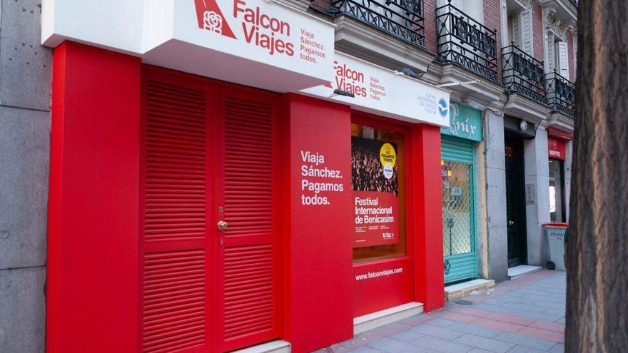 Local de Falcon Viajes, en la calle Ferraz.