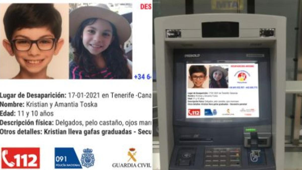 Imagen de los niños en los cajeros de Euronet ATM
