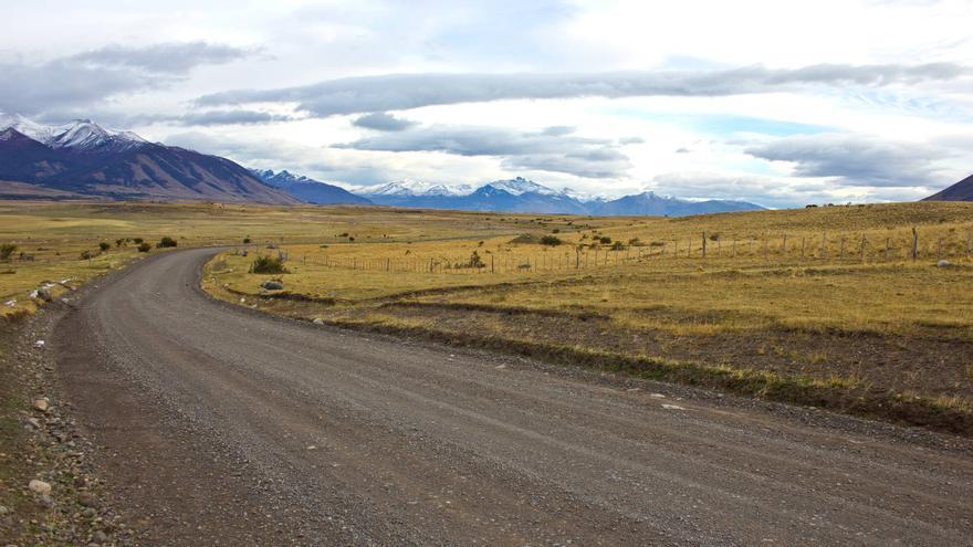 La Ruta 40 en las inmediaciones de Río Turbio, en el sur de Argentina.