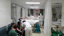 Una sala de urgencias con capacidad para seis pacientes con 19. / @Urgenciaslapaz