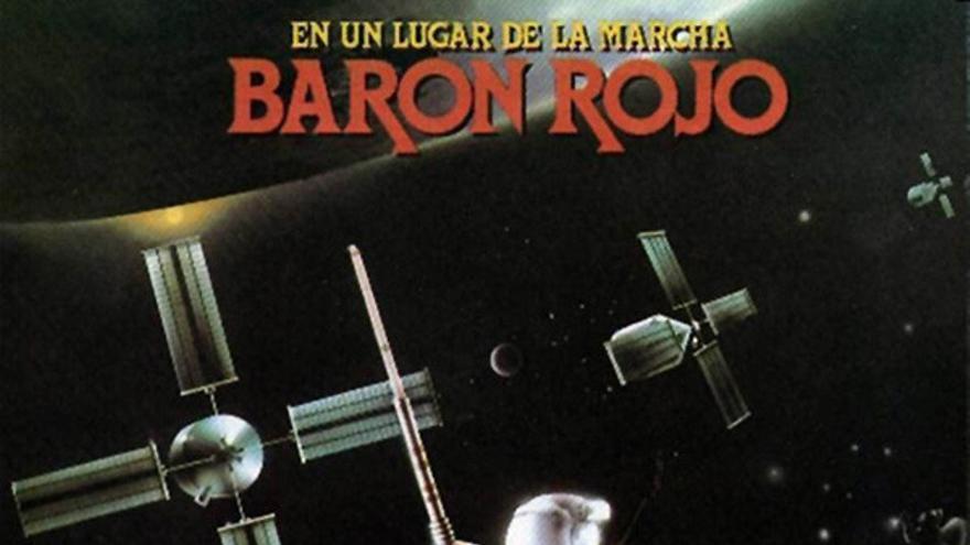 Portada del disco 'En un lugar de la marcha' (1985) de Barón Rojo