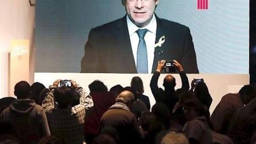 Videoconferencia de Puigdemont