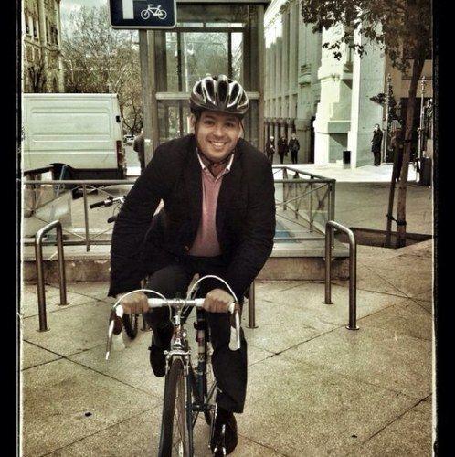 David Erguido, nuevo concejal-presidente de Centro, en una foto cogida de su twitter