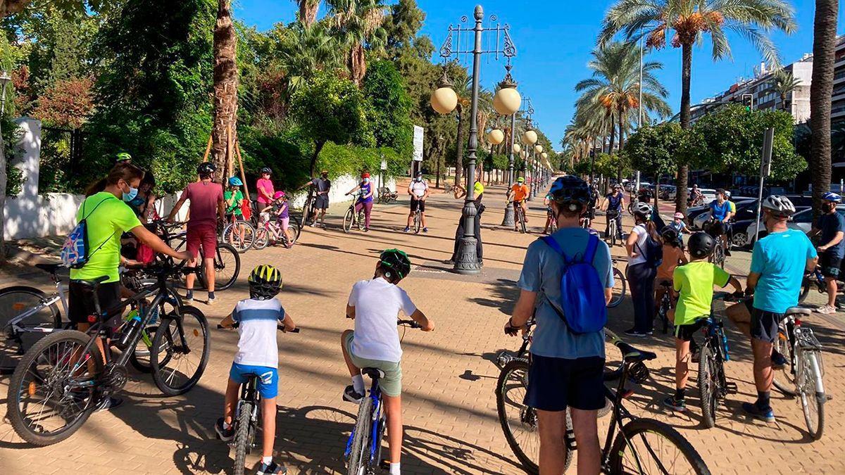 Ciclistas en la Semana Europea de la Movilidad.