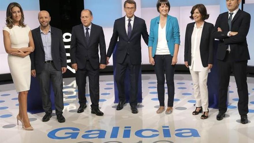Debate electoral en la televisión de Galicia. EFE.