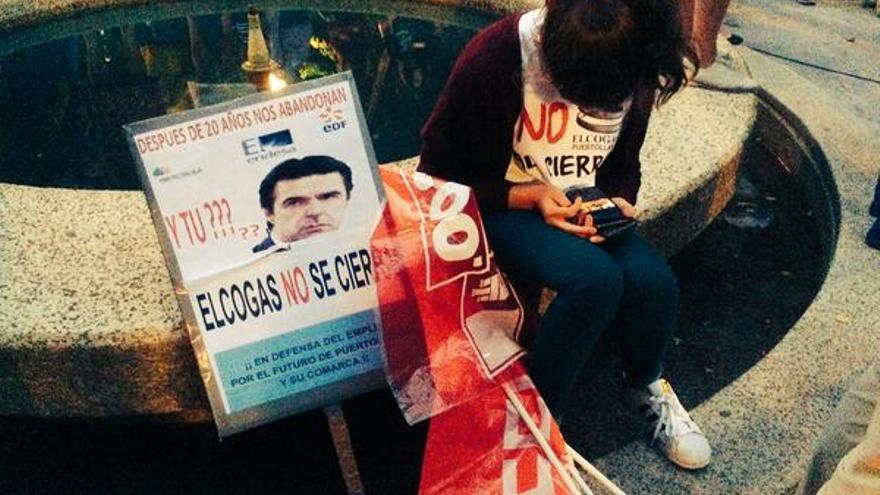 Manifestación contra el cierre de Elcogas. Foto por Pepe Vigara / Twitter