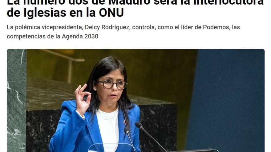 Titular equívoco del periódico La Razón