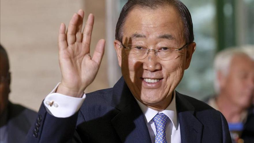 Ban Ki-moon considera que debe prevalecer la solución de los dos Estados