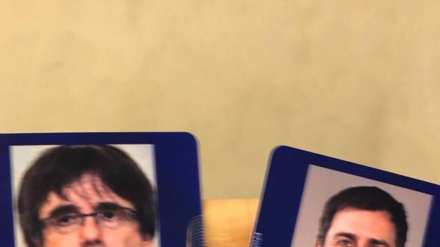 Las acreditaciones temporales de Puigdemont y Comín como eurodiputados para el 20 de diciembre de 2019.