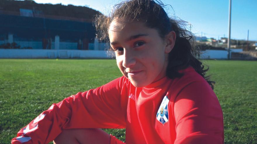 María Martín, jugador del CD Tenerife.