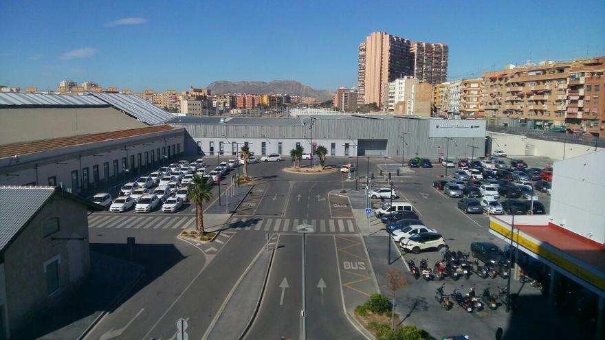 Estación provisional del AVE en Alicante