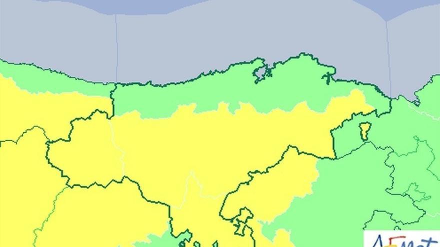 El interior de Cantabria estará este lunes en alerta amarilla por fuertes rachas de viento sur
