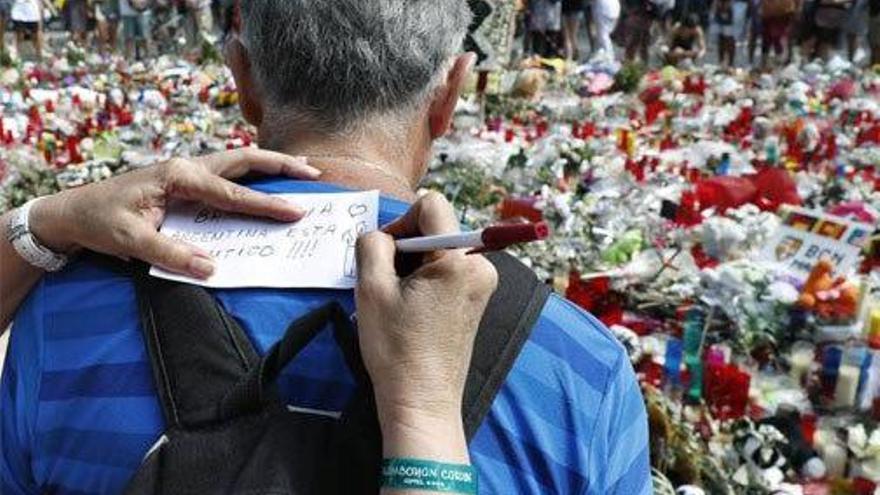 Manifestación en repulsa a los atentados de Barcelona