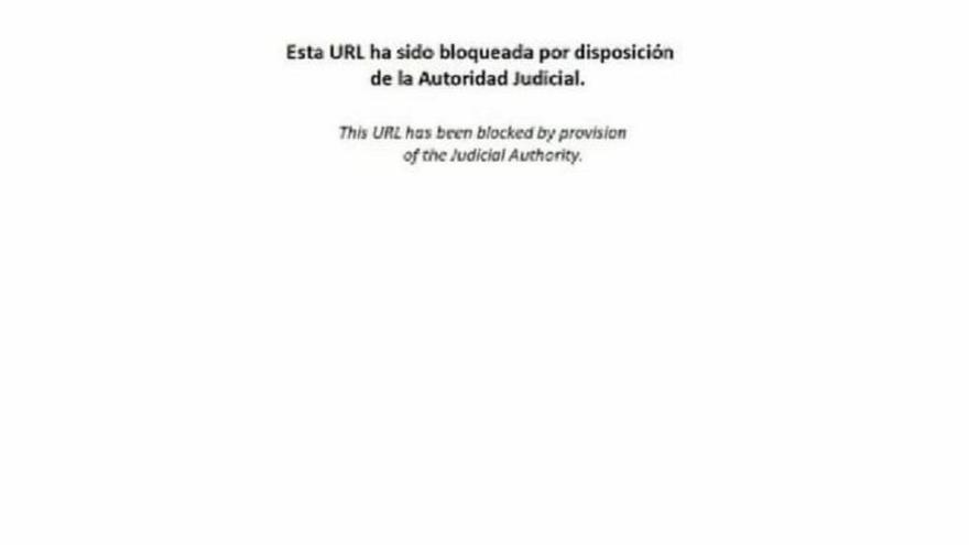 """La web de Tsunami Democràtic se empieza a bloquear con un mensaje de """"la Autoridad Judicial"""""""